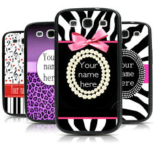 CUSTOM Monogram Zebra Leopard TPU Bumper Hard case For Samsung Galaxy s3 s4 s5