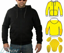 Mens Motorcycle Hoodie Full Lined with Knitted Dupont™ Kevlar® w/ CE Armour - L