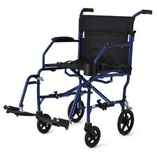 Medline Freedom 14.8lbs Ultralight Lightweight Transport Chair Wheelchair