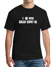 I PAW MY GALGO ESPAÑOL Dog Puppy Cat Animal Unisex T-shirt All Color & Size