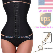 New Tummy Spiral Steel Boned Waist Training Shaper Underbust Corset Waspie R15