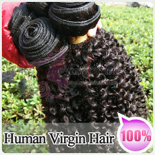 "12""-30"" 100g Hair Bundle Brazilian Remy Human Hair Extensions Weft Kinky Curly"