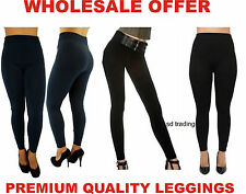12 Fleece Lined Tights Ladies Women Thermal Thick Winter Stretch Wholesale 2/12
