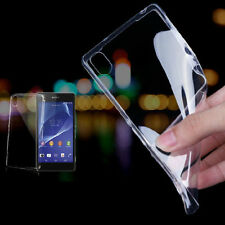 Ultra-thin Transparent TPU Gel Case Cover For Sony Xperia Z1 Z2 Z3 Compact T3 M2