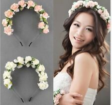 Flower Garland Floral Bridal Headband Hairband Wedding Prom Hair Accessories BT