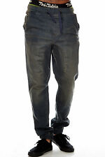 Mens Urban Hip Hop Elastic Waist Drawstring Denim Joggers Pants FREE SHIPPING