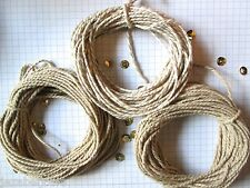 30mts natural  Bakers Twine.10mts + 10mts stripey+ 10mts sparkle  2mm thick