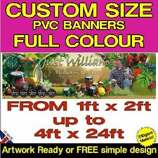 HEAVY DUTY PVC VINYL BANNER - SOLVENT PRINTED OUTDOOR ADVERTISING SIGN BANNERS