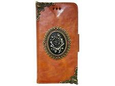 Vintage Rose Wallet Leather Case Cover For Apple iPhone 4 4S 5 5G 5S NA Brown