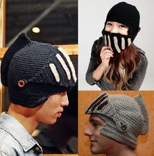 Unisex Winter Outdoor Warm Ski Beanie Knitted Roman Knight Earlap Hat Cap Mask