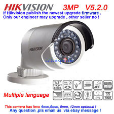 Hikvision Waterproof DS-2CD2032-I 3MP IR Bullet Network IP Camera POE Support