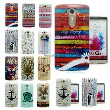 Various Design Soft TPU Silicone Gel Case Cover Back Skin For LG Optimus G3 D855