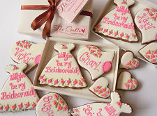 Will you be my Bridesmaid? hand decorated biscuit gift box