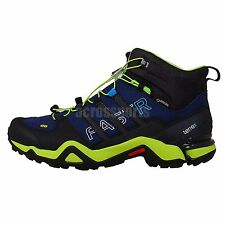 Adidas Terrex Fast R Mid GTX Gore-Tex Navy Green 2014 Mens Hiking Outdoors Shoes