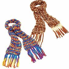 New Womens Knitted Tassels Scarfs Multi Color Knitted Winter Shawls