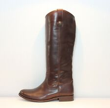 Frye Melissa Button 'Extended/Wide' Calf Riding Boot Dark Brown MSRP $348
