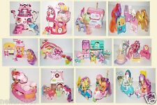 Little Pony Movie Ice Cream Gumball Sweet Step Cake Rainbow House Teapot Bundle