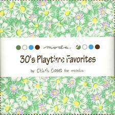 30's Playtime Favorites Charm Pack by Moda,42 5-inch Precut Fabric Squares 905PP