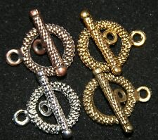 10 SETS  DELUXE TOGGLE CLASP 15mm  ANTIQUE STYLE FINDING