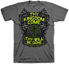 New Kerusso Christian T-Shirt KINGDOM COME Lords Prayer Cross Jesus Adult Mens