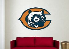 CHICAGO BEARS Logo ~ Window WALL DECAL * Vinyl Car STICKER ~ ANY COLORS