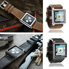 Leather Multi-Touch Wrist Strap Bracelet Watch Band for iPod Nano 6th Generation
