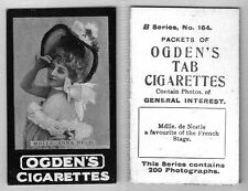 OGDENS TABS (General Interest 'B' Series) 1901 Tobacco Cards #133 to #200