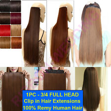Soft Smooth Clip In Remy Human Hair Extensions One Piece Factory Price Cheap F08