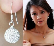 Fashion Silver Plated Soft ceramic Crystal Stud Earrings Earring