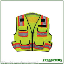 Class 2 Surveyor Vest Hi-VIS Meets ANSI/ISEA 107-2004 A Sizes M To 4XL