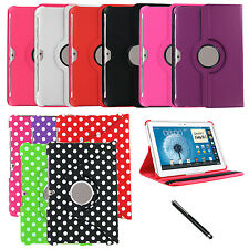 "360 Rotating PU Leather Case Cover Skin for Samsung Galaxy Note 10.1"" N8000 + SP"