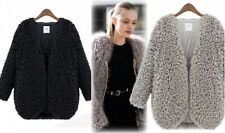 Stylish Lady Shaggy Fluffy Fur Short Coat Jacket Outwear Cardigan Winter Tops
