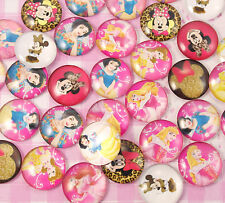 CHOOSE AMOUNT - Princess Character Glass Flat Back Cabochons Kawaii Kitsch Deco