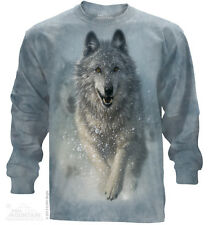 The Mountain T-Shirt Snow Plow Wolf Long Sleeved Tee Shirt Adult Size