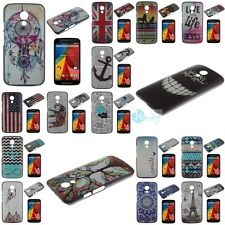 Fashion Classic Embossed Hard Back Skin Cover Case For Motorola MOTO G2 2nd Gen