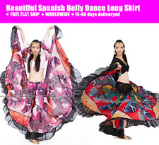 D9CE# Beautiful Performance Spanish Belly Dance Top & Skirt & Suit