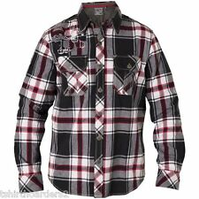 AFFLICTION Mens L/S Button Down Shirt Jacket HITTING HARD Biker UFC S-XXL $109