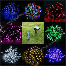 9 Color Solar Powered 100/200 LED Fairy String Light Garden Party Xmas Tree Lamp