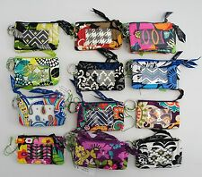 NEW Authentic Vera Bradley Zip ID Card Key Holder case