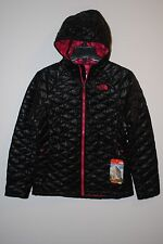 THE NORTH FACE THERMOBALL HOODIE JACKET WOMENS BLACK PINK NEW 2015 AUTHENTIC