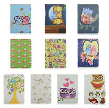 New 360 Rotation Owl family stand PU Leather  Cover Case for Ipad air 2 ipad 6