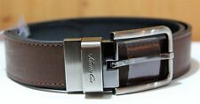 *New* Kenneth Cole New York-Reversible Brown/Black Casual Belt-Italian Leather