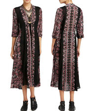 NEW FREE PEOPLE WOMEN'S PAISLEY AZAELEA TIE VNECK LONG MAXI DRESS XS S M L