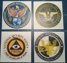 UNITED STATES GOVERNMENT AGENCY STICKERS: F.B.I ./  C.I.A.   /N.C.I.S. + MORE