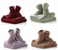 Concierge Collection Faux Fur Throw and Booties