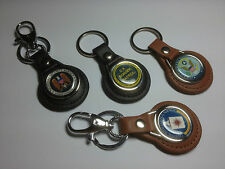 U.S. GOVERNMENT AGENCY LEATHER KEY RINGS IN BLACK OR TAN + FREE PHONE STICKER