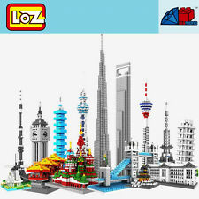LOZ World Famous Architecture Nanoblock Diamond Mini Building Blocks Toy Gift HT