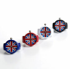 Union Jack Glittery, Shiny Ring Watch for Girls and Ladies