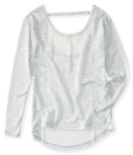 aeropostale womens sparkly oversized hi-lo knit top