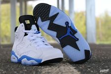 Air Jordan 6 VI Retro Sport Blue Mens 384664-107 6 vi 4 iv 11 concord cement iii